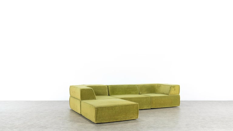 COR Trio Modular Sofa, Giant Landscape in Green, 1972 by Team Form Ag, Swiss For Sale 4