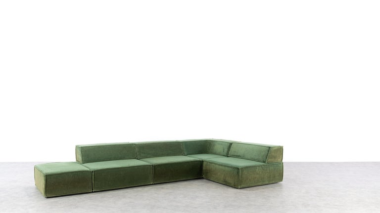 COR Trio Modular Sofa, Giant Landscape in Green, 1972 by Team Form AG, Swiss 5