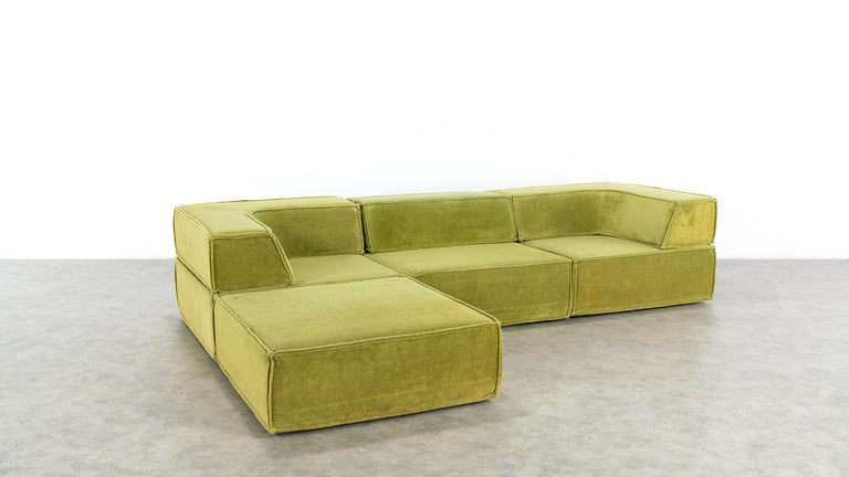 COR Trio Modular Sofa, Giant Landscape in Green, 1972 by Team Form Ag, Swiss For Sale 5