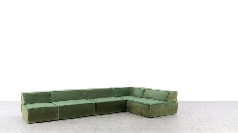 COR Trio Modular Sofa, Giant Landscape in Green, 1972 by Team Form AG, Swiss 6