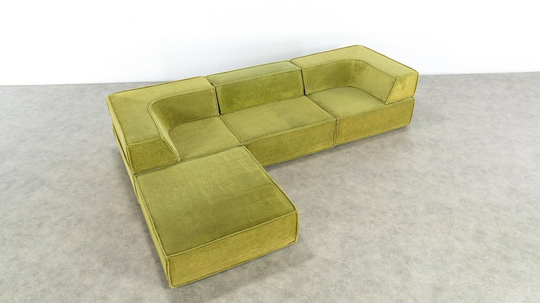 COR Trio Modular Sofa, Giant Landscape in Green, 1972 by Team Form Ag, Swiss For Sale 6