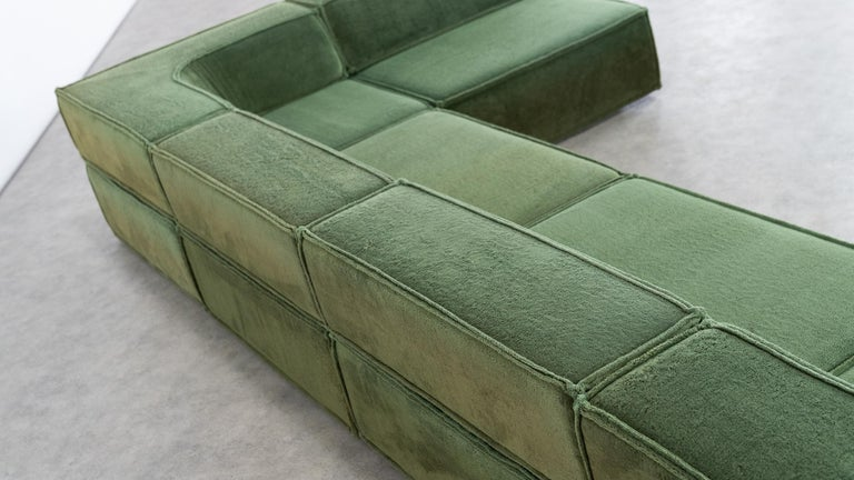 COR Trio Modular Sofa, Giant Landscape in Green, 1972 by Team Form AG, Swiss 7