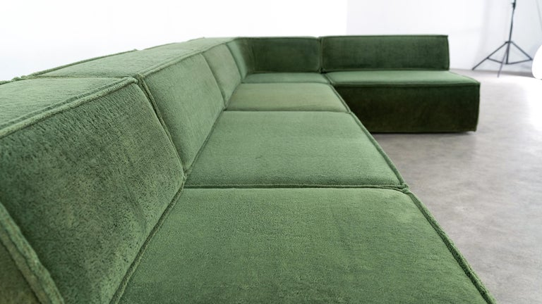 COR Trio Modular Sofa, Giant Landscape in Green, 1972 by Team Form AG, Swiss 8