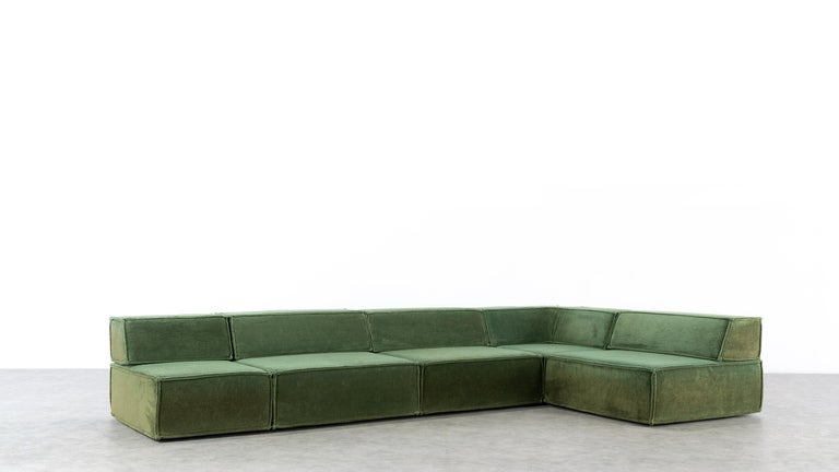 COR Trio Modular Sofa, Giant Landscape in Green, 1972 by Team Form AG, Swiss 9