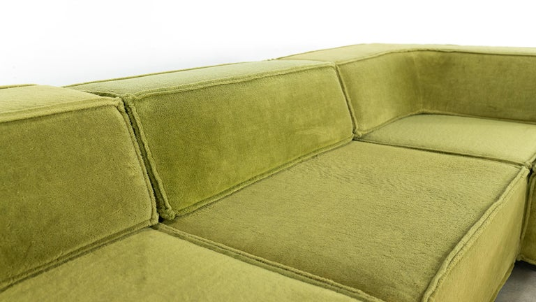 COR Trio Modular Sofa, Giant Landscape in Green, 1972 by Team Form Ag, Swiss For Sale 9