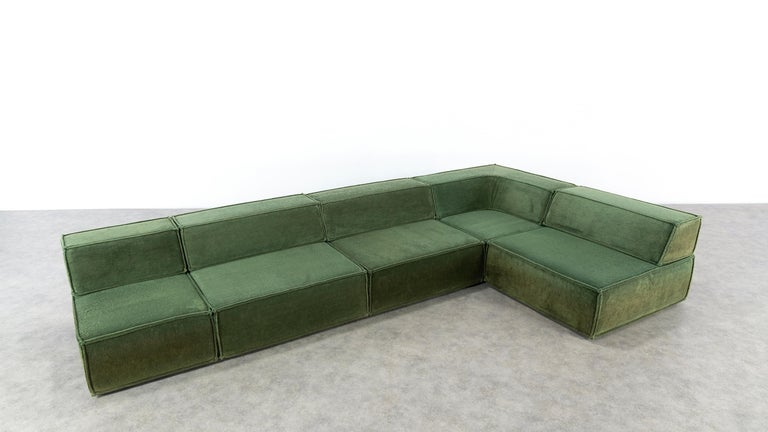 COR Trio Modular Sofa, Giant Landscape in Green, 1972 by Team Form AG, Swiss 10