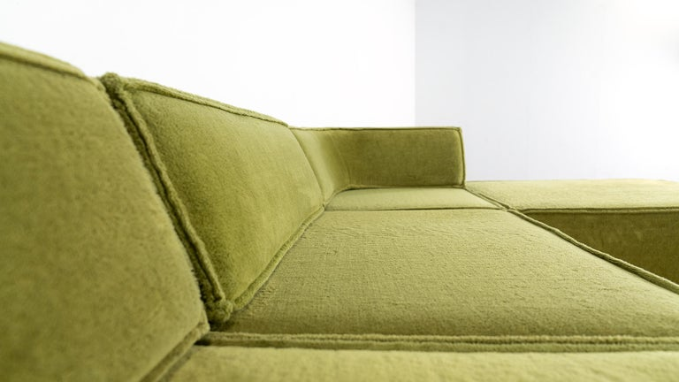 COR Trio Modular Sofa, Giant Landscape in Green, 1972 by Team Form Ag, Swiss For Sale 10
