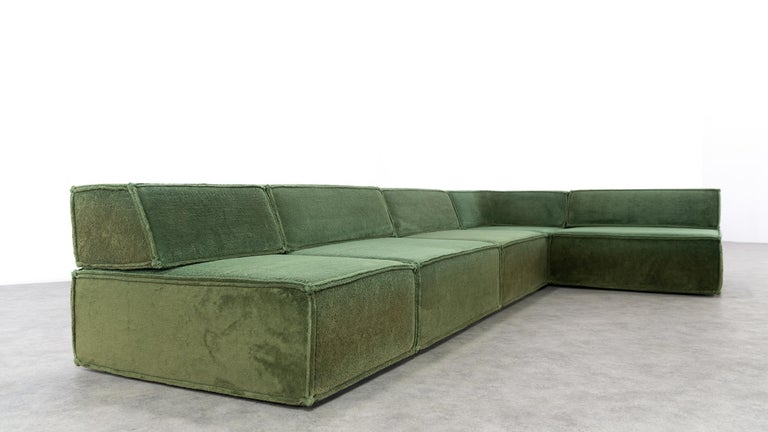 COR Trio Modular Sofa, Giant Landscape in Green, 1972 by Team Form AG, Swiss 11