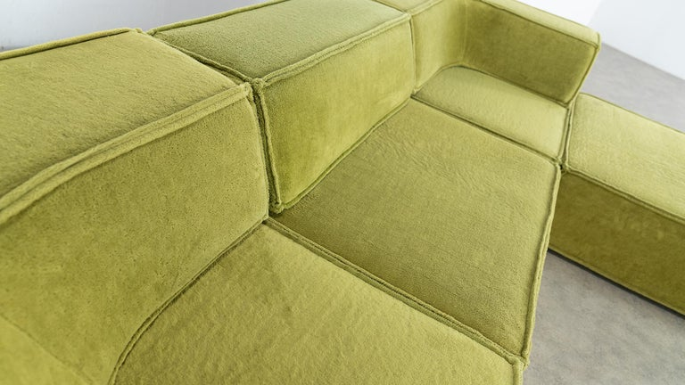 COR Trio Modular Sofa, Giant Landscape in Green, 1972 by Team Form Ag, Swiss For Sale 11