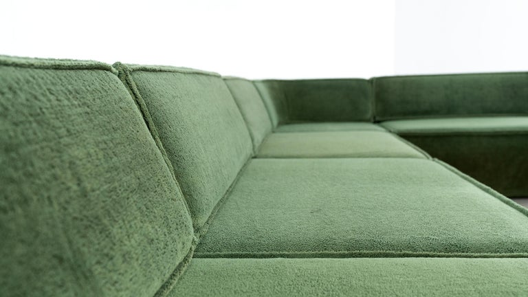 COR Trio Modular Sofa, Giant Landscape in Green, 1972 by Team Form AG, Swiss 12