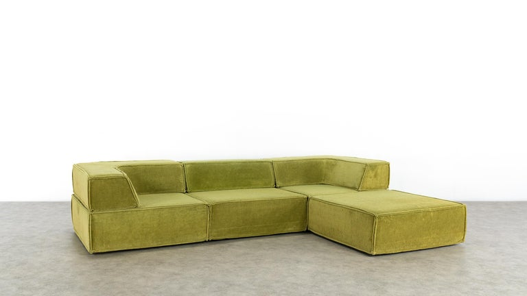 COR Trio Modular Sofa, Giant Landscape in Green, 1972 by Team Form Ag, Swiss For Sale 12