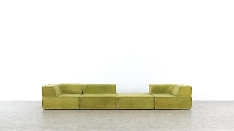 COR Trio Modular Sofa, Giant Landscape in Green, 1972 by Team Form Ag, Swiss For Sale 13