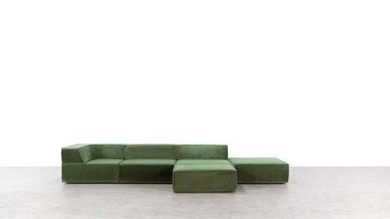 COR Trio Modular Sofa, Giant Landscape in Green, 1972 by Team Form AG, Swiss In Good Condition In Munster, NRW