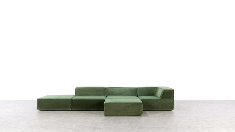 Late 20th Century COR Trio Modular Sofa, Giant Landscape in Green, 1972 by Team Form AG, Swiss