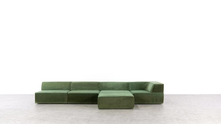 Fabric COR Trio Modular Sofa, Giant Landscape in Green, 1972 by Team Form AG, Swiss
