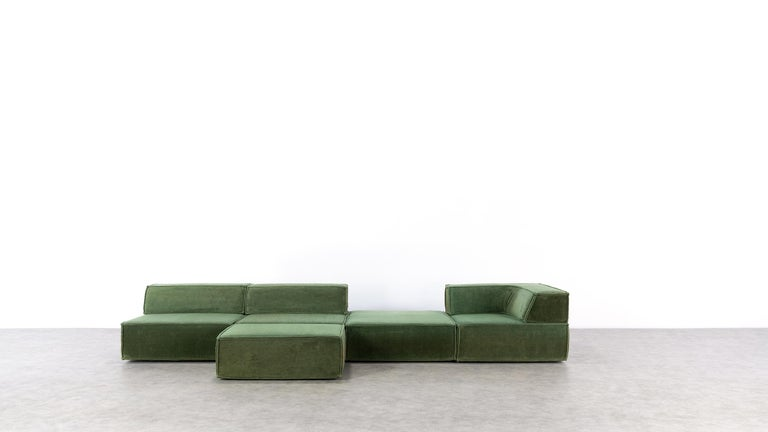 COR Trio Modular Sofa, Giant Landscape in Green, 1972 by Team Form AG, Swiss 1