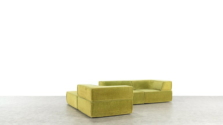 COR Trio Modular Sofa, Giant Landscape in Green, 1972 by Team Form Ag, Swiss For Sale 1