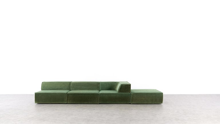 COR Trio Modular Sofa, Giant Landscape in Green, 1972 by Team Form AG, Swiss 2