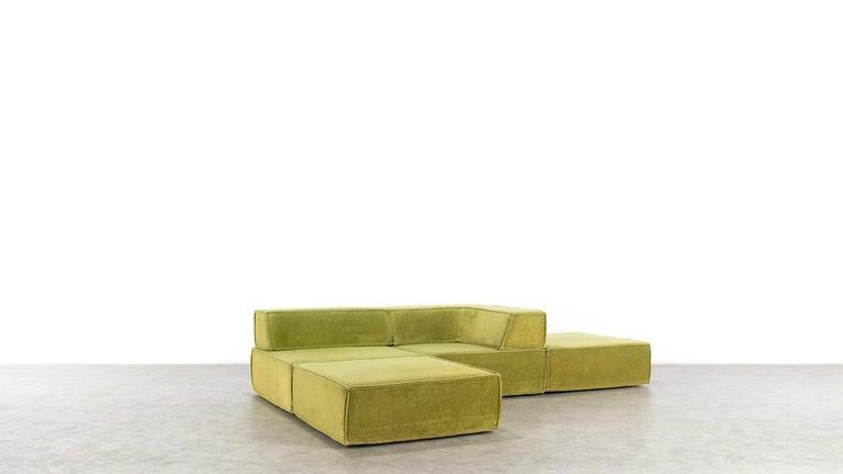 COR Trio Modular Sofa, Giant Landscape in Green, 1972 by Team Form Ag, Swiss For Sale 2