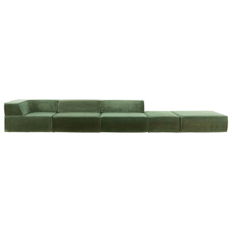 COR Trio Modular Sofa, Giant Landscape in Green, 1972 by Team Form AG, Swiss