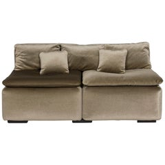 COR Velvet Soff Sofa Green Two-Seat Couch