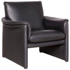 COR Zento Designer Leather Armchair Black Genuine Leather Chair