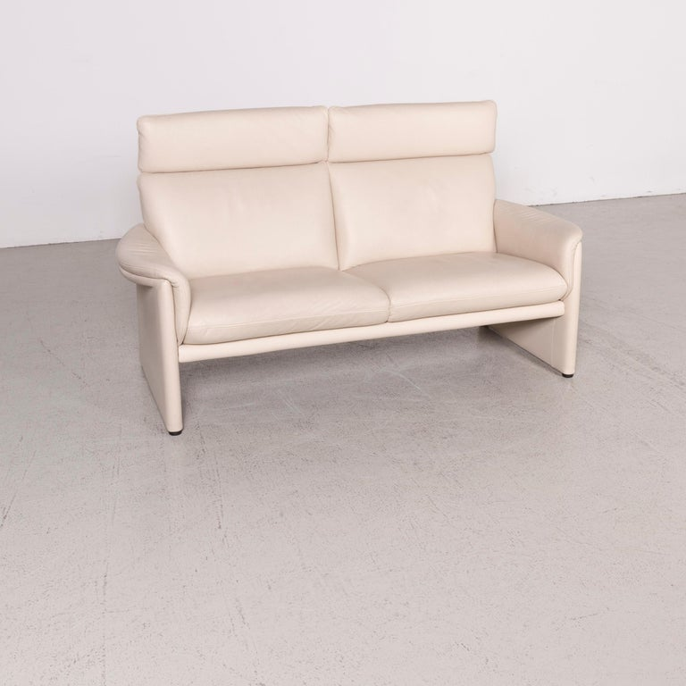COR Zento Designer Leather Sofa Cream Two-Seat Real Leather Couch