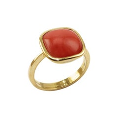 Coral 18 Karat Gold Cocktail Ring