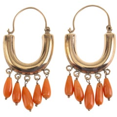 Coral 18 Karat Rose Gold Earrings