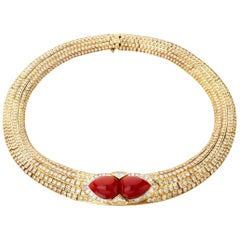 Coral and Diamond Necklace, Tabbah
