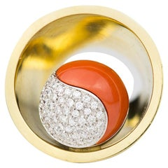 Coral and Diamond Planet Ring