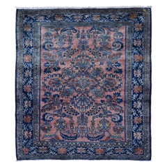 Coral Antique Persian Lilahan Full Pile Clean and Soft Hand Knotted Oriental Rug