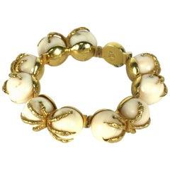 Coral Claw Bracelet