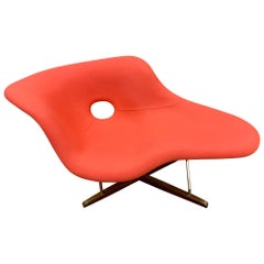 Coral Color La Chaise Chair by Charles & Ray Eames for Vitra Mid-Century Style
