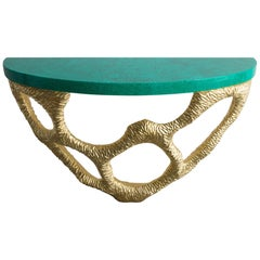 Coral Console in Pine with Faux Malachite Painted Top by Ashley Hicks, 2018