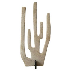Coral N02, 21st Century Sculpture in Travertine and Metal
