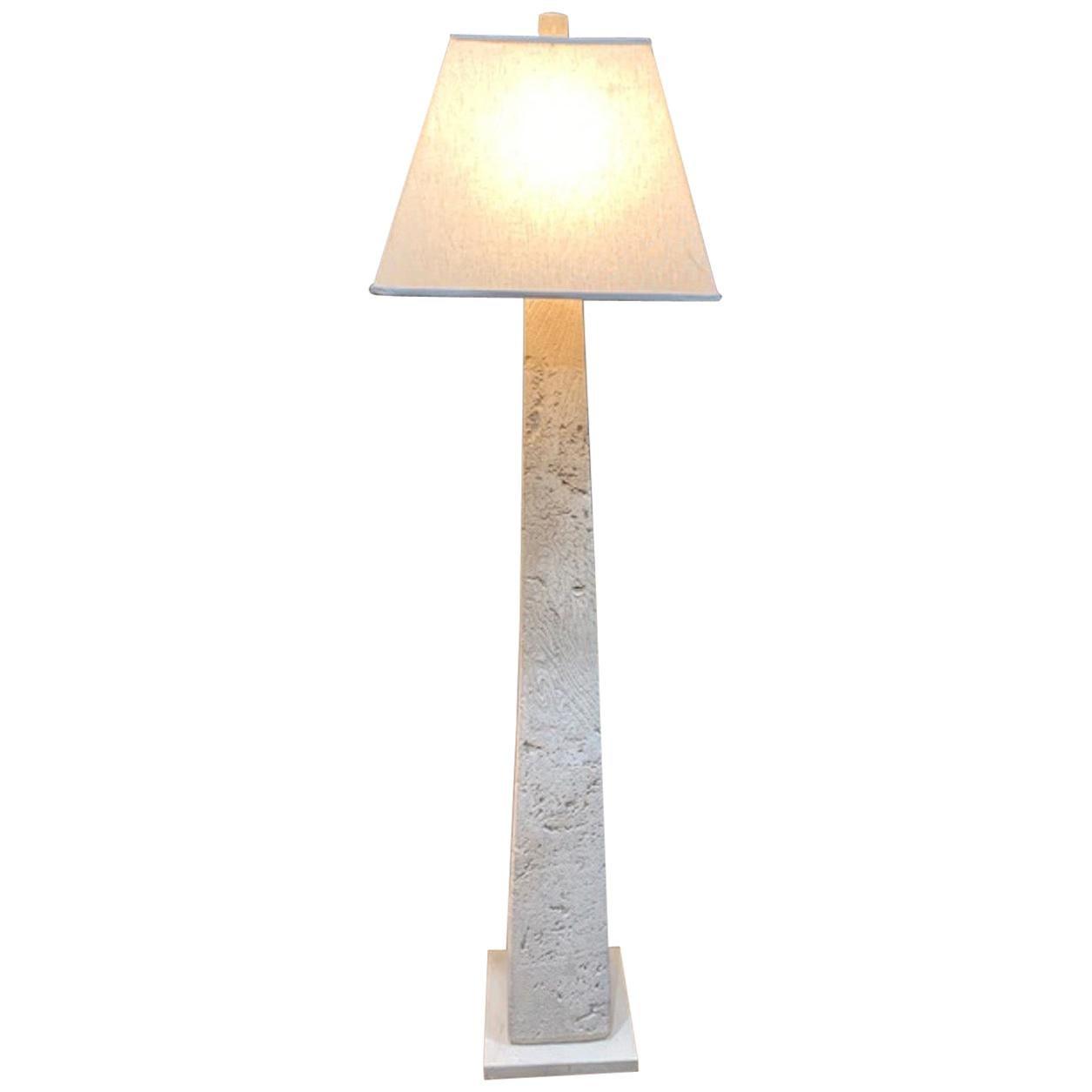 C Pedestal Floor Lamp Vintage
