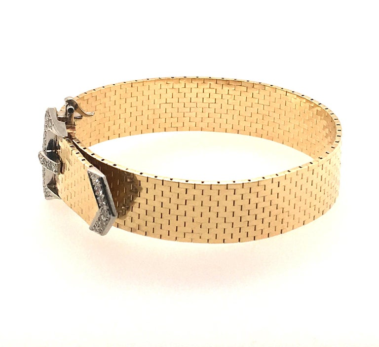 Corbett & Bertolone Gold and Diamond Bracelet In Excellent Condition For Sale In New York, NY