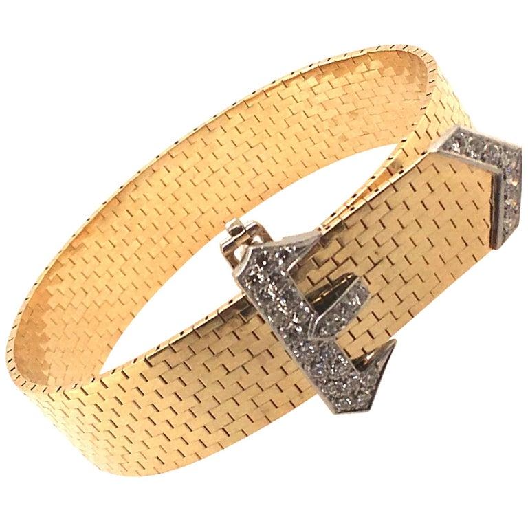 Corbett & Bertolone Gold and Diamond Bracelet For Sale