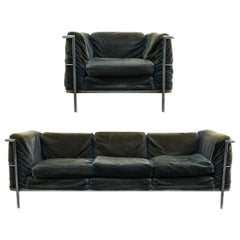 Corbusier Style Sofa and Chair