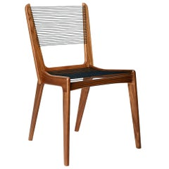 Cord Chair by Jacques Guillon in Walnut