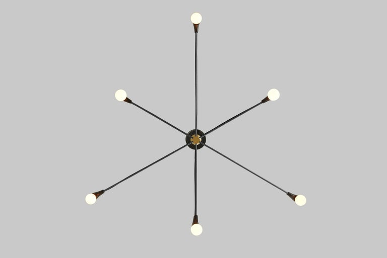 cord chandelier black for sale at 1stdibs