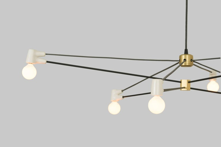 American Cord Chandelier White For Sale