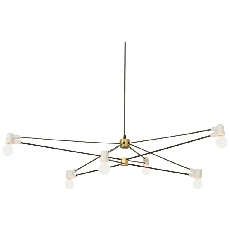 Cord Chandelier White For Sale