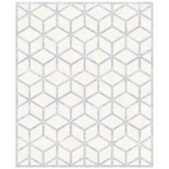 Cordelia, Graphic Beige Hand-Knotted Rug