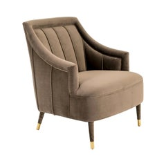 Cordoba Armchair with Antique Brass Tips