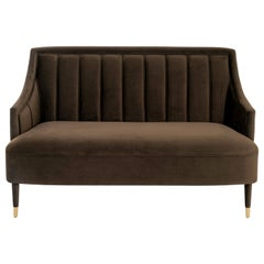 Cordoba Sofa in Safety Velvet and Brushed Brass Tips