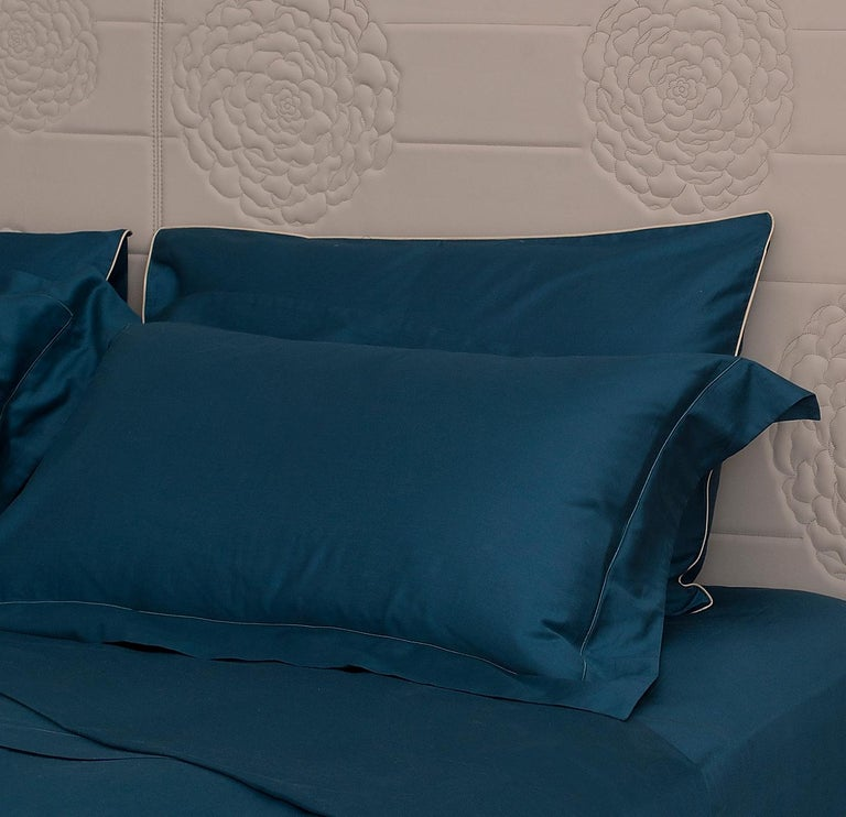 Modern Cordonetto Green Bed Set For Sale