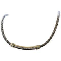 Cordova 18 Karat two tone 1.40 Carat Diamond Contemporary Necklace