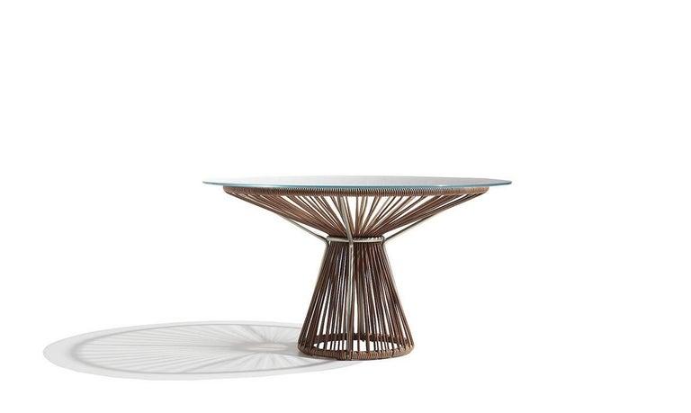 Italian Cordula Cuoio Coffee Table by MissoniHome For Sale
